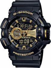 Casio G-Shock Rotary Black & Gold Analog-Digital Resin Men's Watch GA400GB-1A9