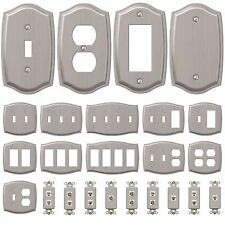 Wall Switch Plate Outlet Cover Toggle Duplex Outlet GFCI Rocker - Brushed Nickel