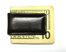 Magnetic Money Clip (Strong Magnets!) - Dark Brown Leather - New