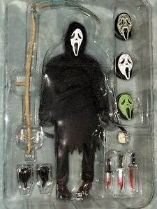 NECA REEL TOYS SCREAM ULTIMATE GHOST FACE HORROR MOVIE ACTION FIGURE COMPLETE!