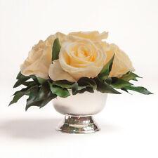 Rosenbox 6 infinity Rosen konserviert silberner Becher Blumen Hochzeit Geschenk