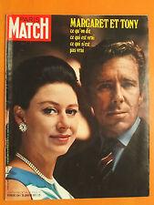 Paris Match N° 1134 du 30/01/1971-Margaret et Tony,ce qu'on dit,ce qui est vrai