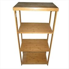 4 Tier Wooden Rack Storage Bookcase Shop Display Stand Shelving Cabinet Shelf