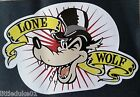 THE LONE WOLF Sticker Decal Hot Rod Car Surfboard Surfing Panel Van Ute Rat Fink