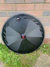 Damaged Zipp Super 9 Clincher Rim Brake Disc Wheel TT Time Trial 11 Speed Carbon