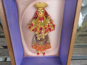 Vintage Wooden Shadow Box Handmade & Hand Painted Mexican Folk Art