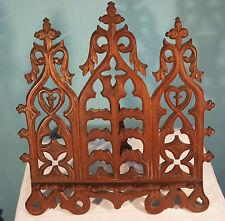 19th Century Gothic Walnut Book Stand Antique San Francisco CA