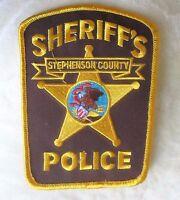 "Stephenson County Sheriff's Police Patch - Illinois - 3 5/8"" x 4 3/4"""