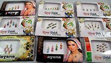 2 Pack Premium Indian Bindi Dots Bollywood Stick on Tattoo Jewels Body Art