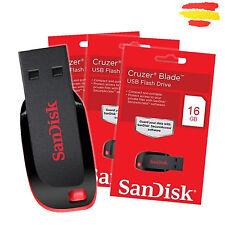 PENDRIVE 16GB SANDISK CRUZER BLADE MEMORIA USB 2.0 16 GB ORIGINAL PEN DRIVE