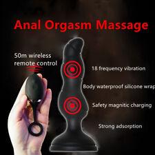 Wireless Remote Control_Vibrating Butt_Plug P-spot Prostate Massager_Anal_Sucker