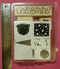 Stampin Up PERFECT PARTY ice cream cone birthday celebrate confetti um/mt (1521)
