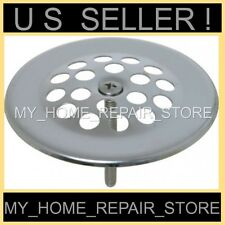 FREE S&H!  STOP HAIR!  CHROME BATH TUB DRAIN WASTE OVERFLOW SHOE STRAINER SCREEN