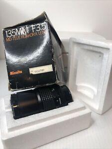 Minolta MD 135mm f3.5 Tele Rokkor-X Lens 135/3.5