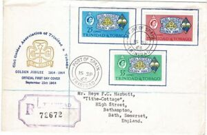TRINIDAD & TOBAGO 1964 GOLDEN JUBILEE GIRL GUIDES REGISTERED FIRST DAY COVER FDC