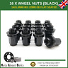 16 Black Alloy Wheel Nuts 14X1.5 OEM For Land Rover Discovery Sport L550 (14-20)