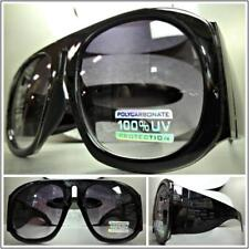 OVERSIZE EXAGGERATED VINTAGE RETRO Style SUNGLASSES Huge Super Thick Black Frame