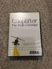 Choplifter (Sega Master, 1986) Complete CIB US NTSC Cart Box Manual