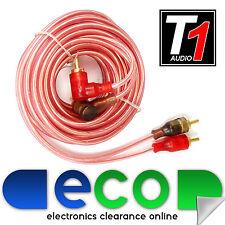 T1 Audio 3 Metros coche amplificador estéreo amplificador OFC RCA a RCA de audio Lead Cable