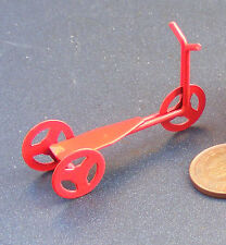 1:12 Scale Red Painted Metal Scooter Tumdee Dolls House Miniature Nursery Toy