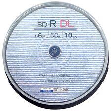 10 Good-J Bluray 50GB HD BD R DL Dual Layer No Logo Bluray Inkjet Printable tdk