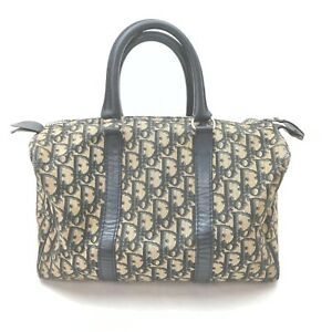 Christian Dior Hand Bag  Navy Blue Canvas 1604625
