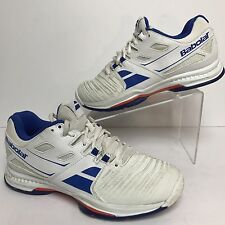 Babolat Mens Shoes Sz 6 SFX All Court Kompression Sneakers Blue White EUR 38.5