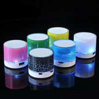 Mini Bluetooth Speaker with Multi-Color LED Lights, AUX, USB, and TF Card inputs