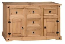 Corona Large Mexican Pine 2 Door 5 Drawer Sideboard by Mercers Furniture®