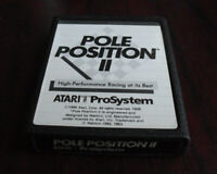Vintage 1986 Atari 7800 Prosystem Pole Position II Video Game Cartridge