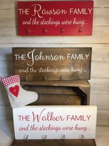 Personalised Family Stocking Hanger/Xmas decor/Christmas Stocking hook/Stockings