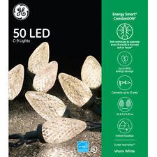 NEW 5 Boxes - GE Energy Smart 50 Warm White LED C9 Holiday Christmas Lights