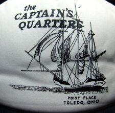 CAPTAIN'S QUARTERS trucker cap 1980s clipper ship Point Place hat snapback OHIO