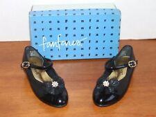 NEW Girls Fanfares Vanity Back Shiny Dress Shoe with Bow