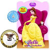 Disney Prinzessinnen - Belle spielt Verstecken (Pappbilderbuch mit 15 Klappen)