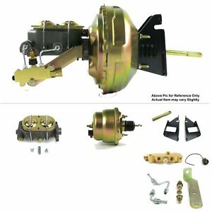 "73-87 Chevy Squarebody Truck FW Mount Power 7"" Dual Brake Booster Kit Disc/Drum"