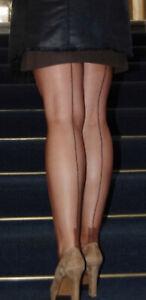 Iconic Magnolia Mills Fully Fashioned stockings, Beige, size Medium