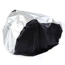Universal Waterproof Bicycle Bike Cycle Cover Outdoor Rain Frost Resistant for 2 Bikes Black