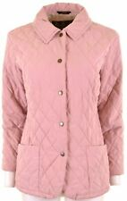 BARBOUR Womens Quilted Jacket UK 14 Large Pink  AZ04