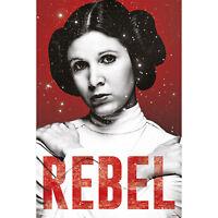 Star Wars - Leia - Rebel - Poster Plakat Druck - Größe 61x91,5 cm