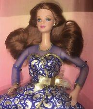 1997 Wal-Mart Portrait in Blue Barbie redhead doll NRFB Mackie face