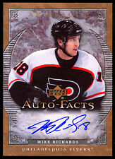 2007-08 UD ARTIFACTS AUTO FACTS AUTOGRAPH MIKE RICHARDS FLYERS SIGNED HOCKEY