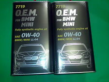 8 Liter MANNOL 0W-40 Motoröl 7719 O.E.M.OEM für BMW MINI MB VW GM Ford Fiat Opel