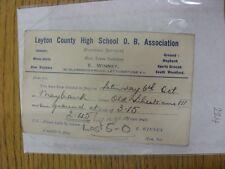 County High School 02/10/1934 Leyton viejo chicos Asociación: tarjeta de selección V Viejo