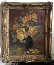 Tableau HSC Bouquet de fleurs signé Walter REEVES (XIX-XX)