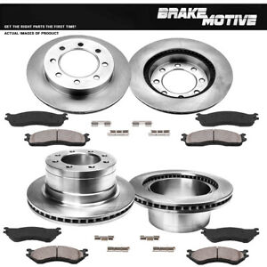 Front Rear Rotors Ceramic Pads For 2006 2007 2008 Ram 1500 2500 3500 2WD 4WD