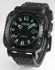Lum-Tec Watch G6 Mens w/ Blue & Black Leather Limited Edition AUTHORIZED DEALER