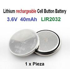 Batería recargable de Litio LIR2032 3.6V 40mAh Lithium Battery