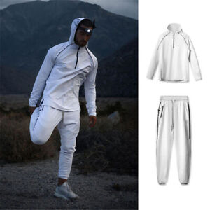 Men's Tracksuit Jogging Trousers Pants Hoodie Sports Sweatshirt Sweat Suit Set