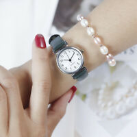Women Ladies Leather Strap Watches Casual Quartz Analog Round Dial Wrist Watch